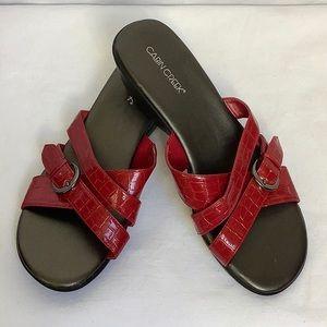 Cabin Creek Red Slip-on Sandals Size 7.5